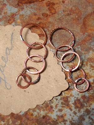 Ring-A-Ding / Made-to-Order Handmade Copper Chain