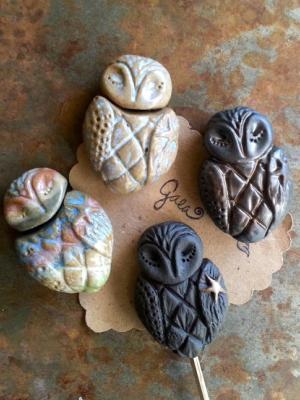 Star Wing Owl / Ceramic Bead Pre-Order
