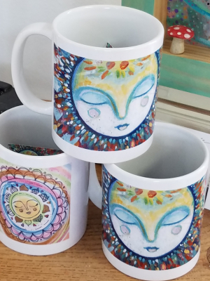 Dreaming Moon / Ceramic Art Mug / Gaea Handmade