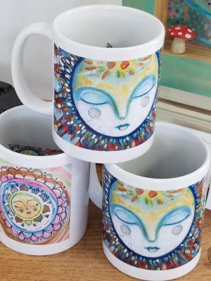 Dreaming Moon / Ceramic Art Mug / Gaea Handmade