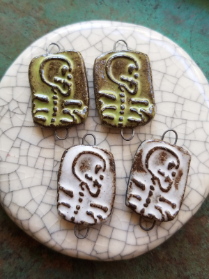 Skeleton Charms / Ceramic Charms To Be Made Late August