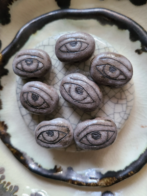 Ghost Eye / Ceramic Bead