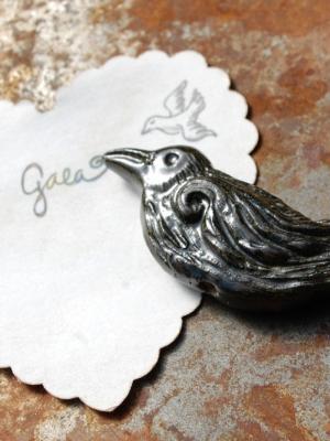 Nevermore / Ceramic Raven Bead Pre-Order