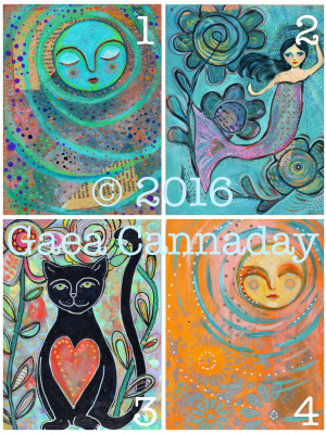 Greeting Cards / Mixed Media Painting Cards