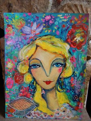 Fairy / Mixed Media Painting