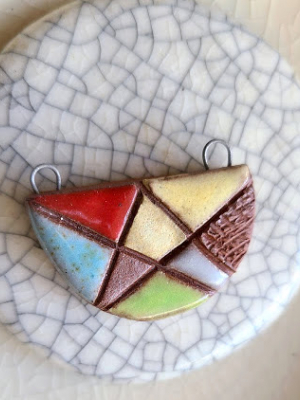 Abstracted / Ceramic Pendant