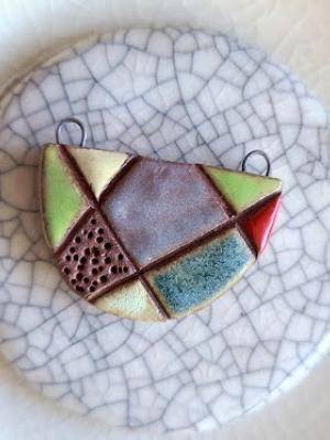 Abstract / Ceramic Pendant