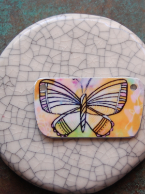Fly Free / Art and Metal Pendant