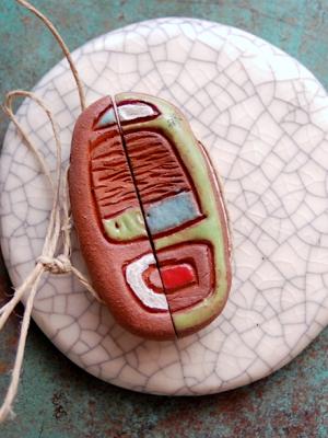 Tribal #54 / Ceramic Bead Set