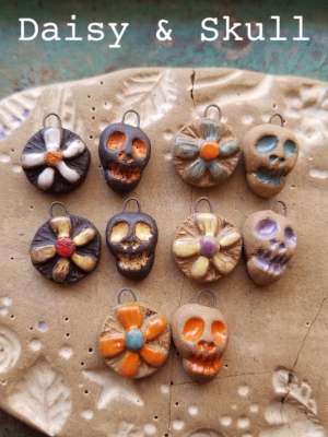 Day of the Dead / Ceramic Charms To Be Made Late August