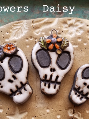 Day of the Dead / Ceramic Pendants To Be Made Late August