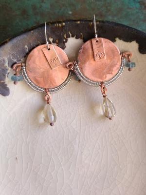Lotus Queen / Gaea Handmade Earrings