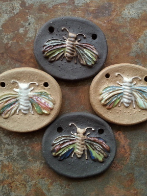 Fluter / Ceramic Moth Pendant To Be Made
