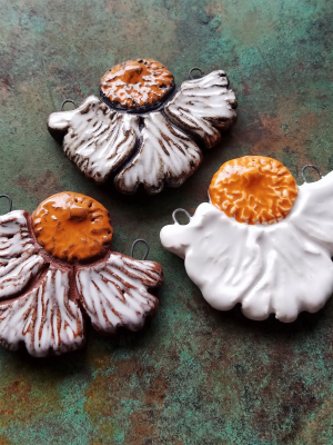 Pre-Order / Matilija Poppy/ Ceramic Pendant to be made