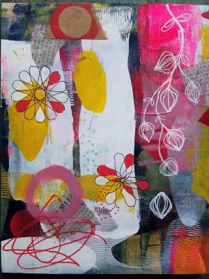 Abstract Spring #1 / Mixed Media Painting