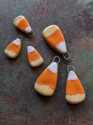 Candy Corn Charms / Ceramic Charms To Be Made