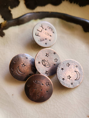 Loop Back Copper Buttons
