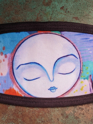 Abstract and Moon / Gaea Handmade Face Mask